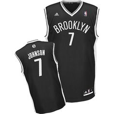 Joe Johnson Brooklyn Nets adidas Youth Swingman Away Jersey - Black - NBA 0f9e91584