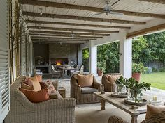 Autumn is in the air outside living, outdoor living, entertainment room, outdoor entertaining Outdoor Decor, Outdoor Fireplace, Farmhouse Architecture, Pueblo House, Outdoor Entertaining Area, Entertaining Decor, Room Extensions, Outdoor Living, Entertainment Room Decor