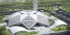 Masjid in Hamadan Iran Traveling Center irantravelingcent. Architecture Concept Drawings, Futuristic Architecture, Amazing Architecture, Art And Architecture, Mosque Architecture, Religious Architecture, Unusual Buildings, Beautiful Mosques, Islamic Art