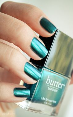 Butter London 'Thames' nailpolish. Purchasable (sp?) at The Bay.