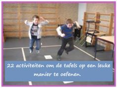 22 leuke activiteiten om de tafels te oefenen. School Hacks, School Projects, Smart School, School Info, Math Stations, Math Classroom, Science For Kids, Fun Math, Primary School