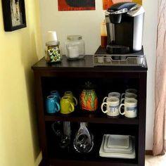 DIY Bookcase Coffee Bar