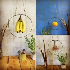 This listing is for my new hanging fruit loop fruit frame. Originally designed for bananas, but I soon realized this could be used for grapes or