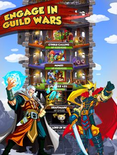 ENGAGE IN GUILD WARS  Once you are a member of the guild, you can fight against other players and win valuable prizes. Together with other members of the guild you can build a guild tower, discuss tactics and strategies and wage wars. Play now! iOS: https://itunes.apple.com/app/war-of-warlocks/id799551713?mt=8 Android: https://play.google.com/store/apps/details?id=air.com.greengeniegames.warlocks