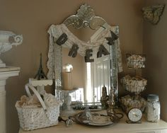 This vanity set up is so amazing, and just so beautiful. :)