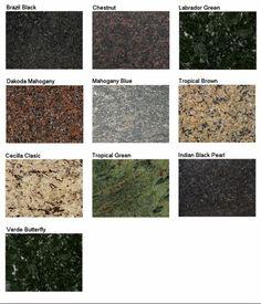 Merveilleux Granite Samples