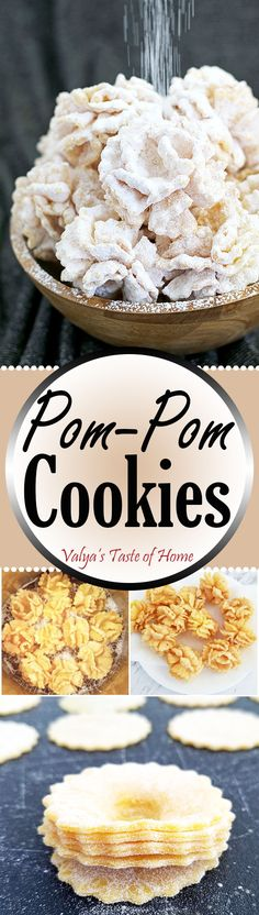 """Since Mother's Day is just around the corner, I really want to post Pom-Pom Cookies Recipe. Graduation is also upon us, and what better says """"celebrate"""" than party pom-poms? They make for a perfect dessert for just about any occasion: holiday, birthday party, wedding, baby or bridal shower. For a special touch, color them with the party decoration and it's a theme!"""