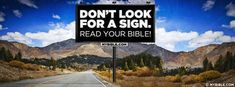 Don't Look For A Sign - Facebook Cover Photo