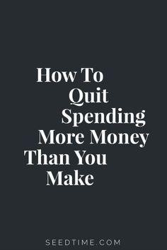 How To Make A Budget  SeedTime
