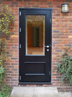 Timber Front Door, Chiswick 1, Engineered Oak Stained Ebony 020, Kloeber  37794