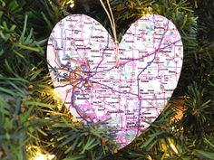 St. Louis Ornaments, St. Louis Map Ornament, St. Louis Christmas Ornament, St. Louis Map Christmas Ornament, Illinois Map Ornament by AtHomeWithWords on Etsy https://www.etsy.com/listing/481144232/st-louis-ornaments-st-louis-map-ornament