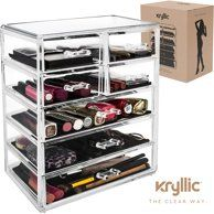 Acrylic Cosmetic Drawer Storage Organizers Clear Countertop 3