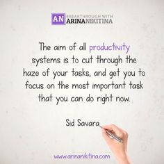 The aim of all productivity systems is to cut through the haze of your tasks, and get you to focus on the most important task that you can do right now.  #quote #quotes #quoteoftheday #inspirationalquotes #lifequotes #motivationalquotes #quotestoliveby #lovequotes #SuccessQuotes  #Dailyquotes #sadquotes #quotesoftheday #quotestags  #motivationalquote #quotesdaily #inspirationalquote #dailyquote #lifequote #positivequotes