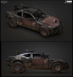 Ravaged vehicle Picture  (3d, realism, vehicle, post apocalyptic, car)