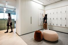 Design to change office culture: Gray Puksand's NCR HQ Office Lockers, Mail Room, Workplace Design, Cool Office, Cool Apartments, Office Workspace, Global Design, Working Area, Office Interiors
