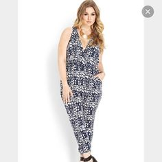 Jumpsuit No stretch, 100% rayon Worn once Forever 21 Pants Jumpsuits & Rompers