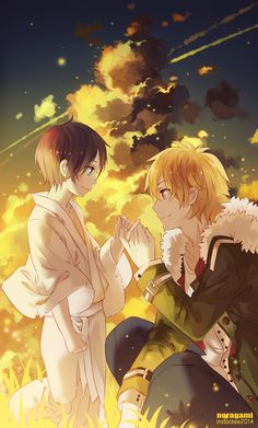 Yukine and littel Yato - Noragami by instockee on pixiv