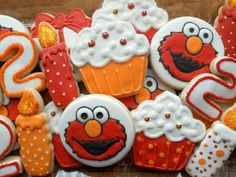 Elmo Birthday Cookies!!