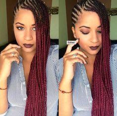 we love these sideswept braids!