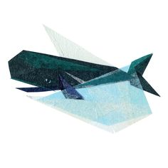 A print created from the original Ira Whale paper collage on canvas. 8.5 x 8.5, square*. Printed on ultra bright white acid free stock paper using an