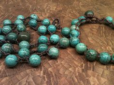 Set / Two Pieces matching Necklace and Bracelet by wandandwear, $34.95