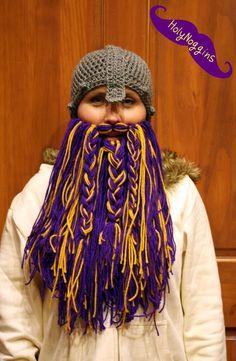 13e41188ba5 Hobbit Viking Beard and Hat Choose your beard color by HolyNoggins