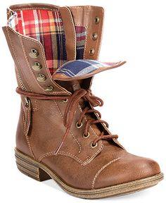 American Rag Deputy Combat Boots - All Women's Shoes - Shoes - Macy's