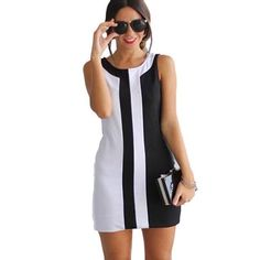 (12.38$) Fashion Office Lady Sexy Womens Lady Summer Casual Sleeveless Evening Party A line Mini Dress #LSN