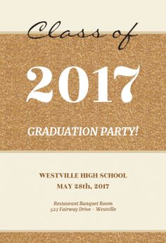 beige corckboard free graduation party invitation template greetings island