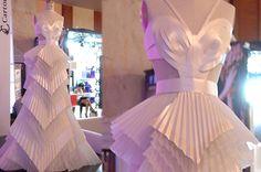 Vestido de papel - Diseño de Cinthia Avelino