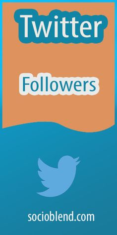 Twitter Followers are essential to look popular on Social Media. If you are popular, whatever you say or share has value in others' point of view. So you need to buy Twitter Followers to increase the count in a short span. Use #Socioblend for this. #Buy #Twitter #Followers #BuyTwitterFollowers #PurchaseTwitterFollowers #GetTwitterFollowers