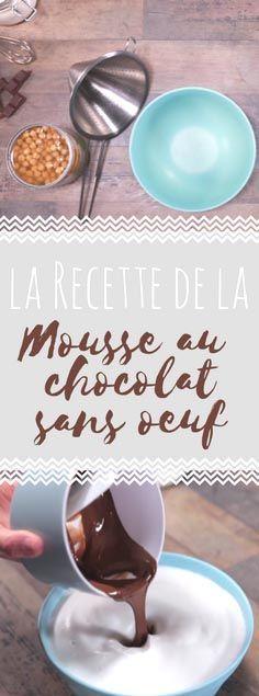 Découvrez la recette de la mousse au chocolat sans oeuf en vidéo