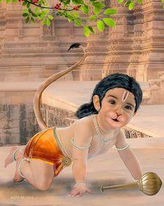 Bal Hanuman, Hanuman Pics, Hanuman Images, Shri Ram Wallpaper, Radha Krishna Wallpaper, Hanuman Ji Wallpapers, Rama Image, Ram Photos, Lord Shiva Painting