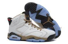 http://www.nikeriftshoes.com/air-jordan-6-retro-white-black-gold-online-for-sale.html AIR JORDAN 6 RETRO WHITE BLACK GOLD ONLINE FOR SALE Only $91.00 , Free Shipping!