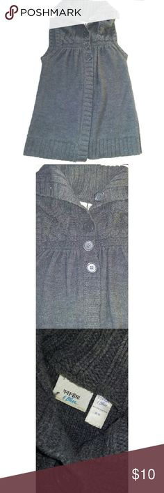 Gray Collard knit vest Gray knit vest is soft and warm. Buttons a little way down. Has minor wear. Would look really good with any collar long sleeve underneath. Great for colder days. Jackets & Coats Vests