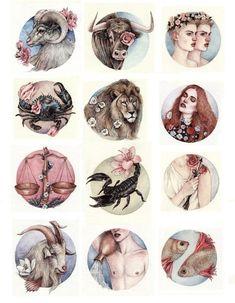 horoscope on Behance