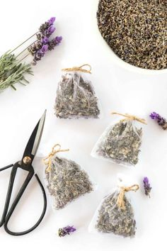 Make your wardrobe/drawers smell AMAZING with these simple DIY lavender sachets you can make in less than 10 minutes. This tutorial shows you how to make lavender scented bags using pre-made organza bags, making it a quick and easy no-sew project! Lavender Bags, Lavender Sachets, Lavender Scent, Lavender Crafts, Diy Arts And Crafts, Diy Crafts For Kids, Essential Oils Room Spray, Little Presents, Tea Packaging