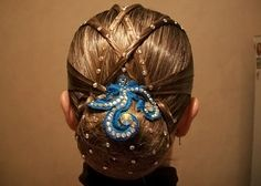 #Ballroom Hairstyle For Competition http://www.dancingfeeling.com/