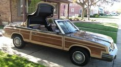 Cool Car Photos Chrysler Lebaron woodie convertible