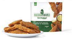 Kellogg releases Incogmeato plant-based Chick'n Tenders in US - FoodBev Media Food Packaging Design, Plant Based Protein, Food Service, Plant Based Recipes, Food And Drink, Vegan, Sweet, Plants, Candy