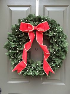 Christmas wreath rustic christmas wreath green by TheClassyGoose