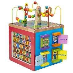 Tinkie Toys - My Busy Town Wooden Play Activity Cube Toy by Alex, £49.99 (http://www.tinkietoys.com/my-busy-town-wooden-play-activity-cube-toy-by-alex/)