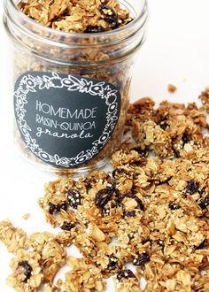 alisaburke: homemade raisin-quinoa granola