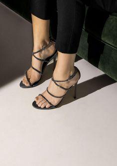 Kalea Gunmetal Luxe Satin Heels Shoe Boots 81de9493a