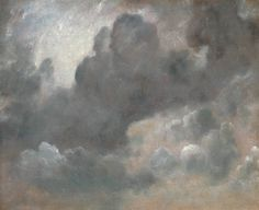 John Constable (British, 1776–1837), Cloud Study, 1822, Oil paint on paper on board