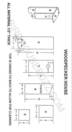 Nestbox Plans and Dimensions for Red-bellied Woodpecker