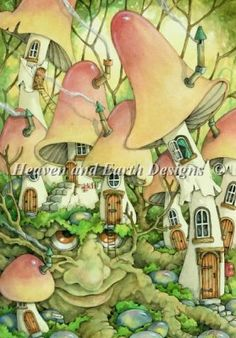 Village at Mossy Stump by Linda Ravenscroft