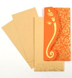 Orange Color, Handmade Paper, Hindu Cards – Famous Last Words Indian Wedding Cards, Pocket Wedding Invitations, Handmade Wedding Invitations, Rustic Invitations, Printable Wedding Invitations, Wedding Stationery, Indian Invitations, Invitation Ideas, Wedding Invitation Video