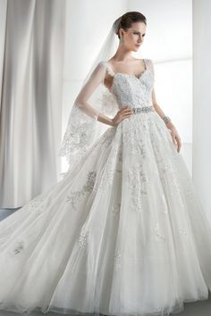 Classic Formal Romantic Vintage Ivory White $$$ - $1501 to $3000 Ball Gown Beading Demetrios Floor Lace Natural Sash/Belt Sleeveless Sweethe...