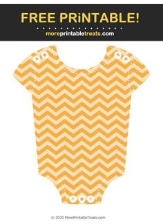 Marigold Chevron Baby Onesie Cut Out